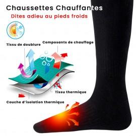 Chaussettes Électriques Chauffantes avec Température Réglable