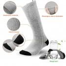Paire de Chaussettes Chauffantes Électrique - Unisexe - 3 Réglages de Température