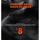 Ensemble de Combinaison Chauffante Électrique Doublé en Polaire - Chandail et Pantalon Chauffant
