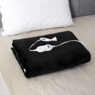 Couverture Chauffante Noir en Peluche avec Thermostat - Deux Grandeurs Disponibles