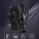 Gants Chauffants Coupe-Vent avec Tissu Hydrofuge et Respirant
