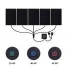 Ensemble de 5 Coussinets Chauffants Électriques USB avec Régulateur de Température