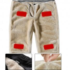 Pantalon Chauffant avec Doublure Détachable en Fourrure