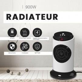 Radiateur Portable de 900W avec 3 Vitesses