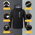 Veste Chauffante avec Capuche Détachable - 8 Zones de Chaleur